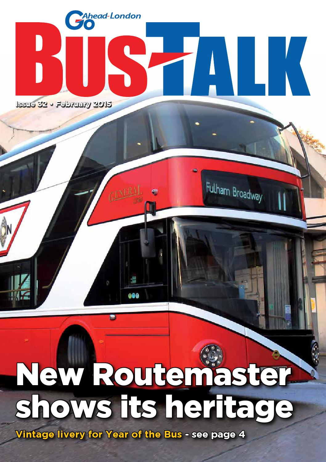 bus talk - issue 32 - february 2015go-ahead london - issuu
