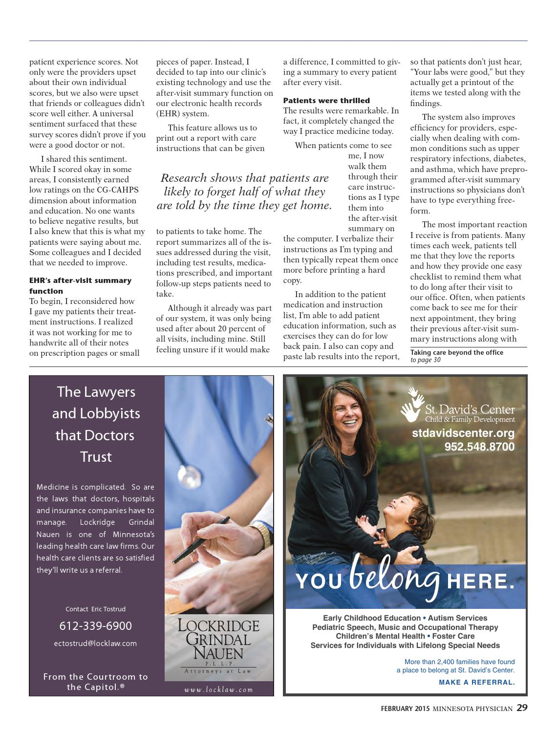 Minnesota Physician February 2015 by Minnesota Physician