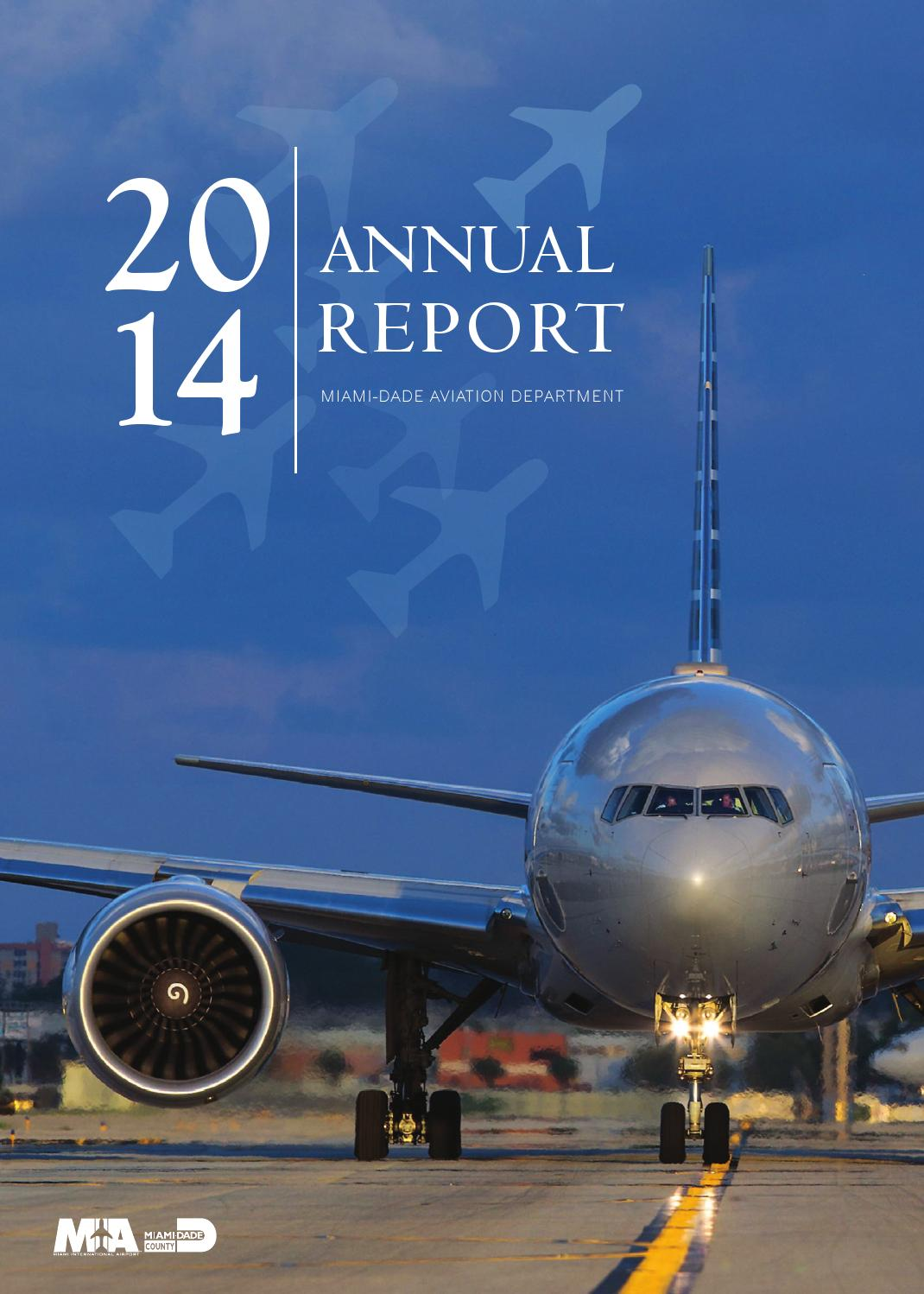 Miami Dade Aviation Department 2015 Annual Report By Window Seat