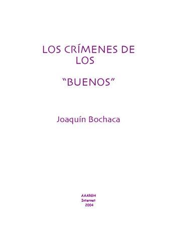 4044843105 LOS CRIMENES DE LOS BUENOS -Por joaquin bochaca by Tercera Fuerza ...