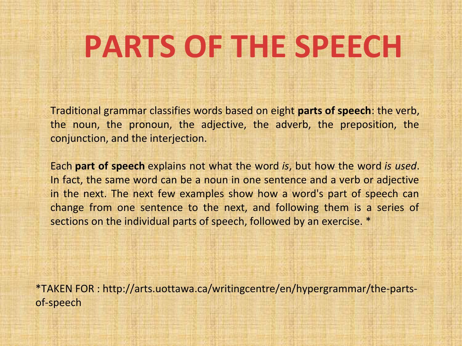Why - which part of the speech