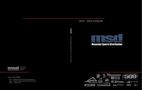 c1a88b240bc MSD 2015 2016 Catalog by Mountain Sports Distribution - issuu
