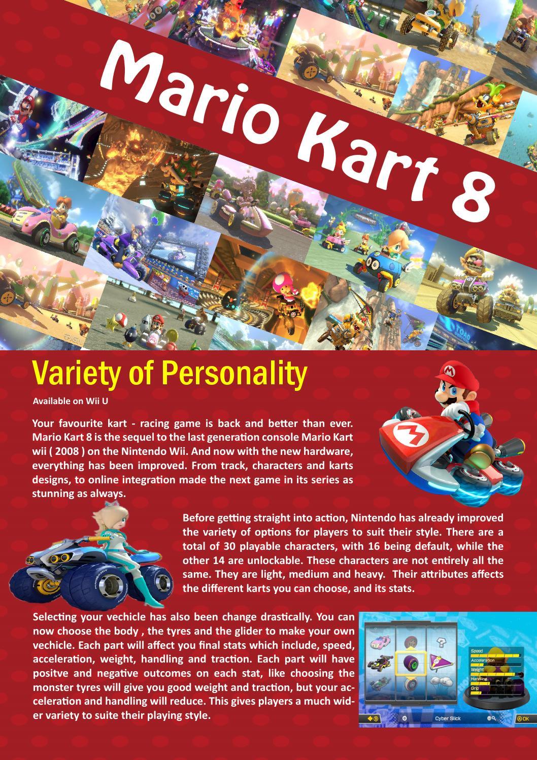 Mario Kart 8 Prototype Example Pdf Interactive By Machination Issuu