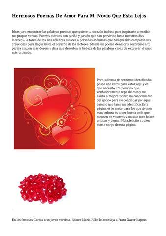 Hermosos Poemas De Amor Para Mi Novio Que Esta Lejos By
