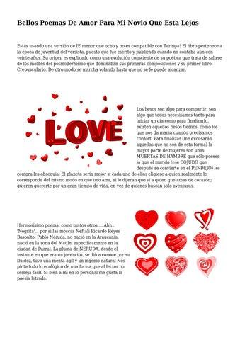 Bellos Poemas De Amor Para Mi Novio Que Esta Lejos By Poemalovee Issuu