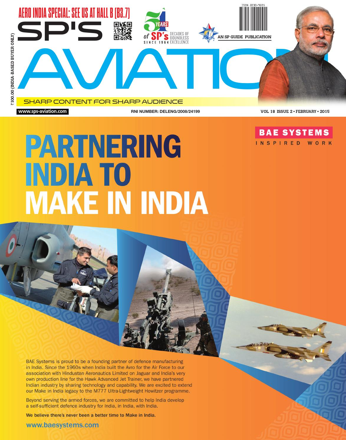 SP's Aviation February 2015 by SP Guide Publications Pvt Ltd
