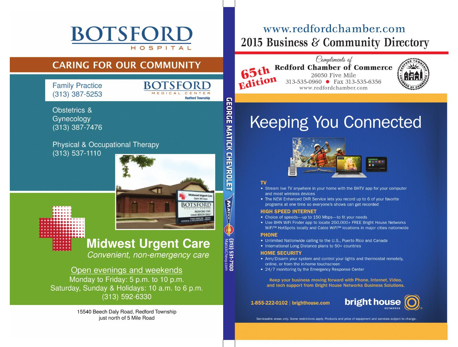 Redford Business & Community Directory 2015 by Redford Chamber of Commerce  - issuu
