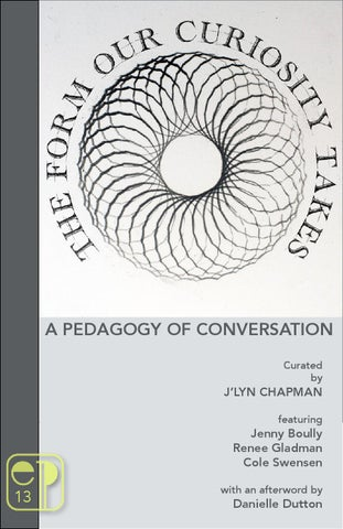 the form our curiosity takes a pedagogy of conversations by essay page 1