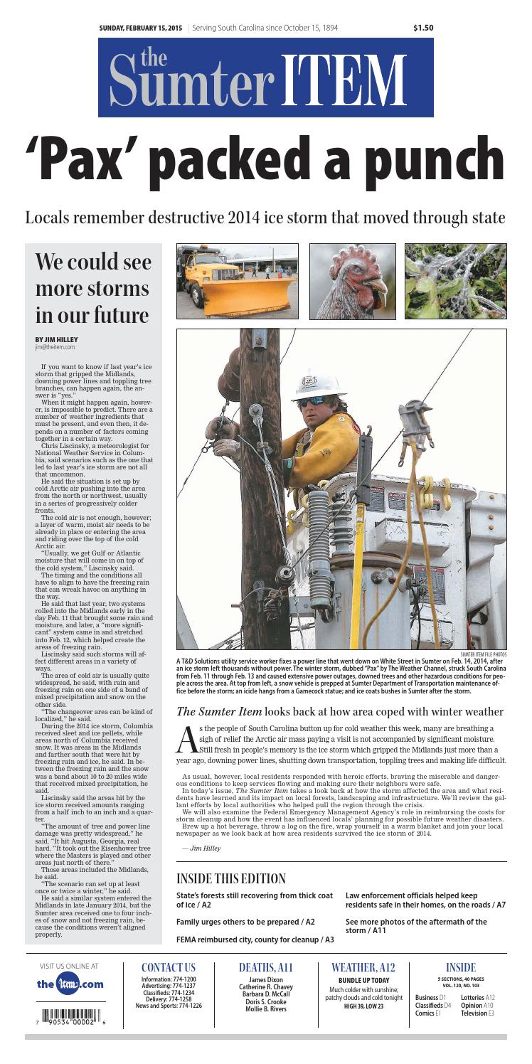 February 15, 2015 by The Sumter Item - issuu