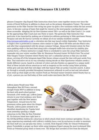 Page 1. Womens Nike Shox R6 ...