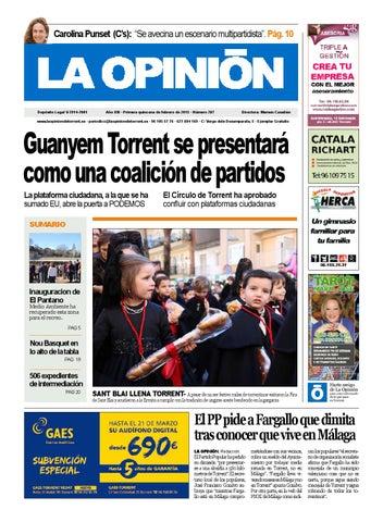 5b5f9b504d6b6 287-Primera quincena de febrero de 2015 by La Opinion de Torrent - issuu