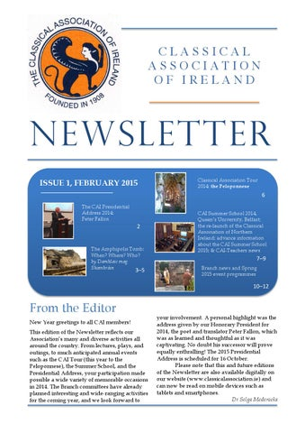 "Cover of ""CAI Newsletter: February 2015"""