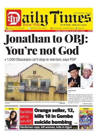 Daily Times of Nigeria Newspaper by Daily Times of Nigeria