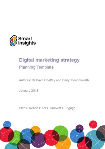 Digital Marketing Plan Template Smart Insights By Elvira Bolat  Issuu