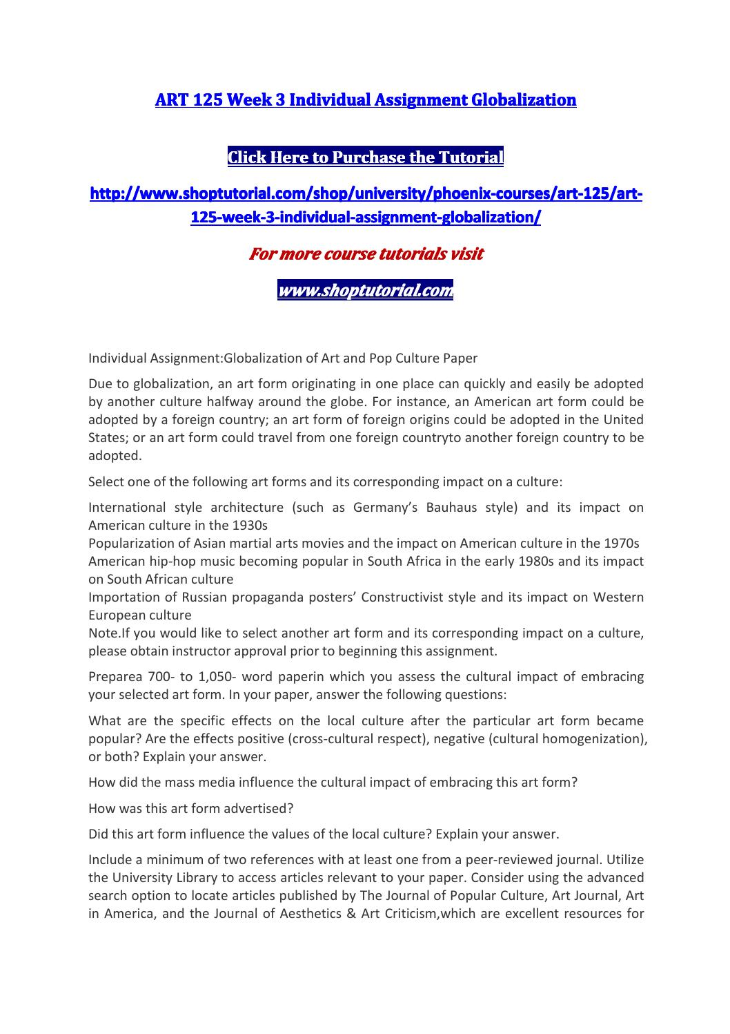 globalization articles
