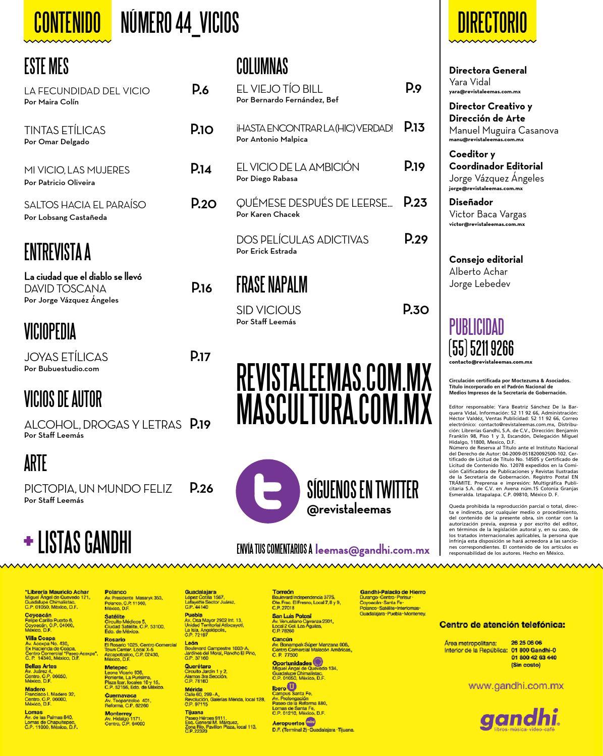 b487db78a 44_Vicios by Revista Lee+ de Librerías Gandhi - issuu