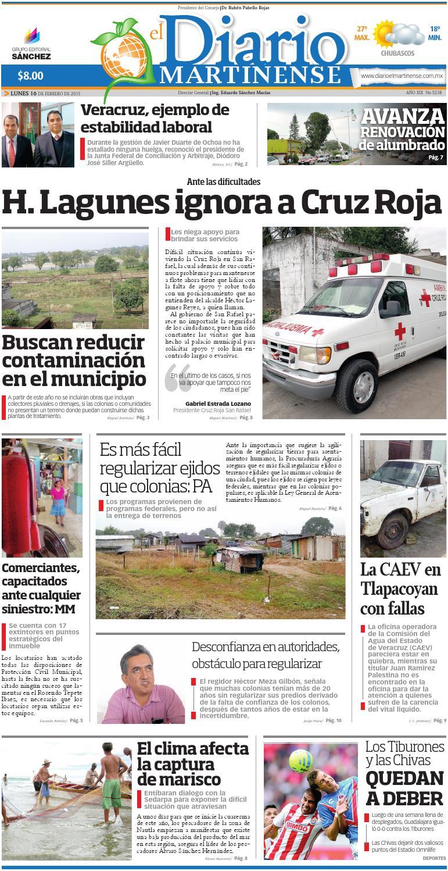 f1e9d38c6009 El Diario Martinense 16 de Febrero de 2015 by Diario de Poza Rica SA ...