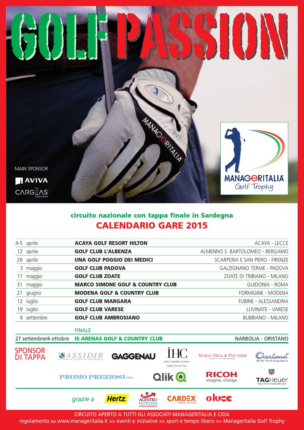 Acaya Golf Club Calendario Gare.Dirigente Genfeb 2015