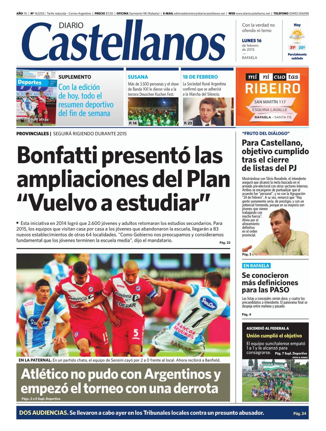 Diario Castellanos 16 02 by Diario Castellanos - issuu 7e9df0a814057