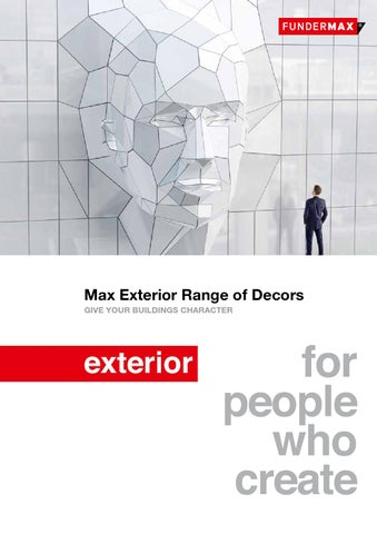 Max Exterior Range Of Decors GIVE YOUR BUILDINGS CHARACTER