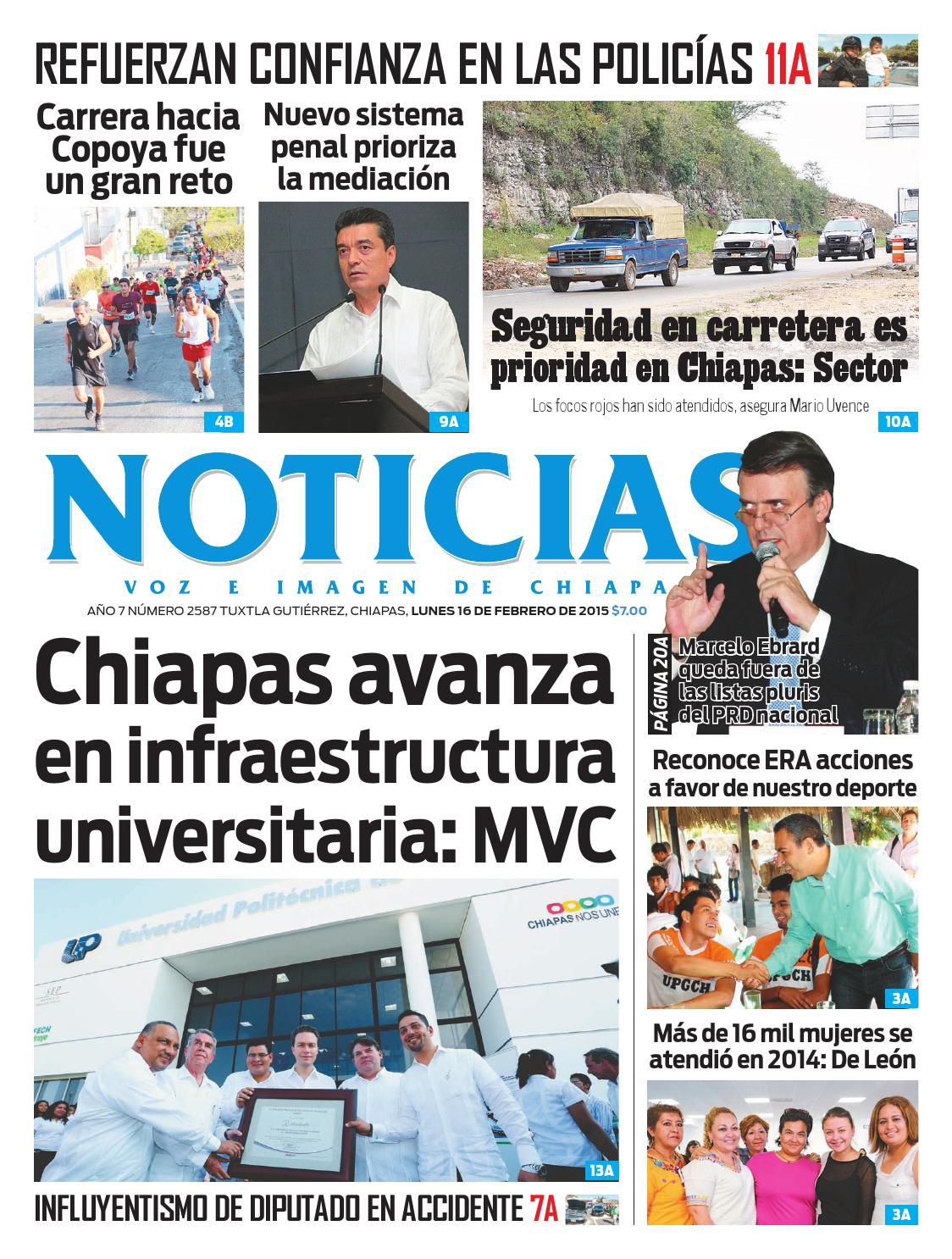 e9e5970dcefa Noticias Voz e Imagen de Chiapas - Edición 16 de Febrero de 2015 by ...