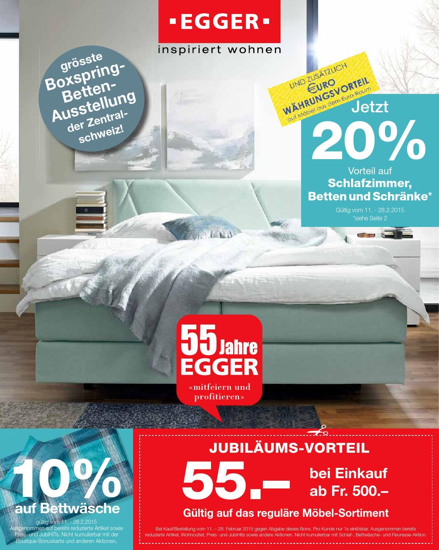 m bel egger 20 auf schlafzimmer betten und schr nke 2015 by m bel egger issuu. Black Bedroom Furniture Sets. Home Design Ideas