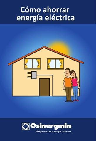 C mo ahorrar energ a el ctrica by osinergmin digital issuu for Como ahorrar en el hogar