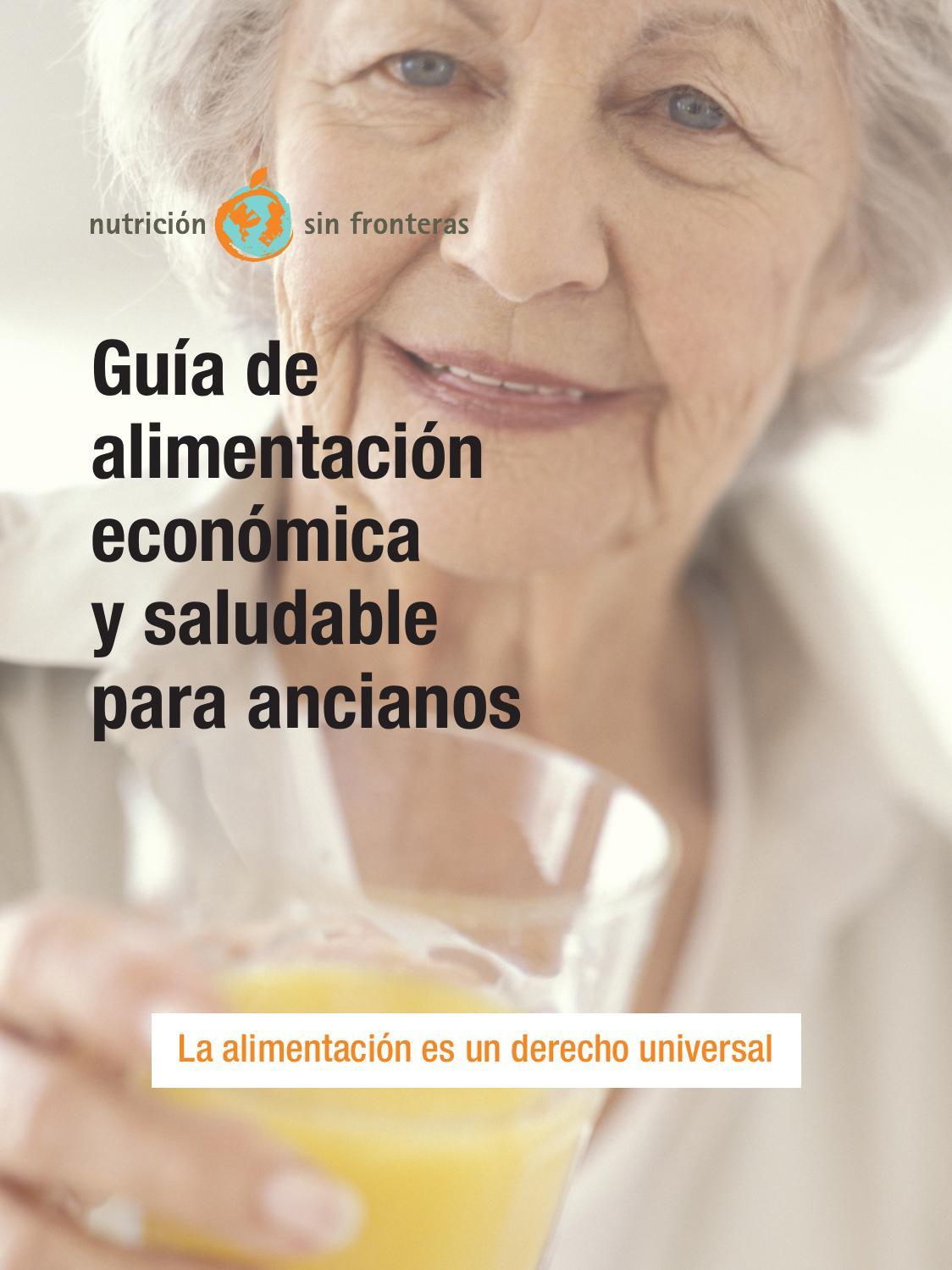 Gu a de alimentaci n econ mica y saludable para ancianos for Cocinar para 40 personas