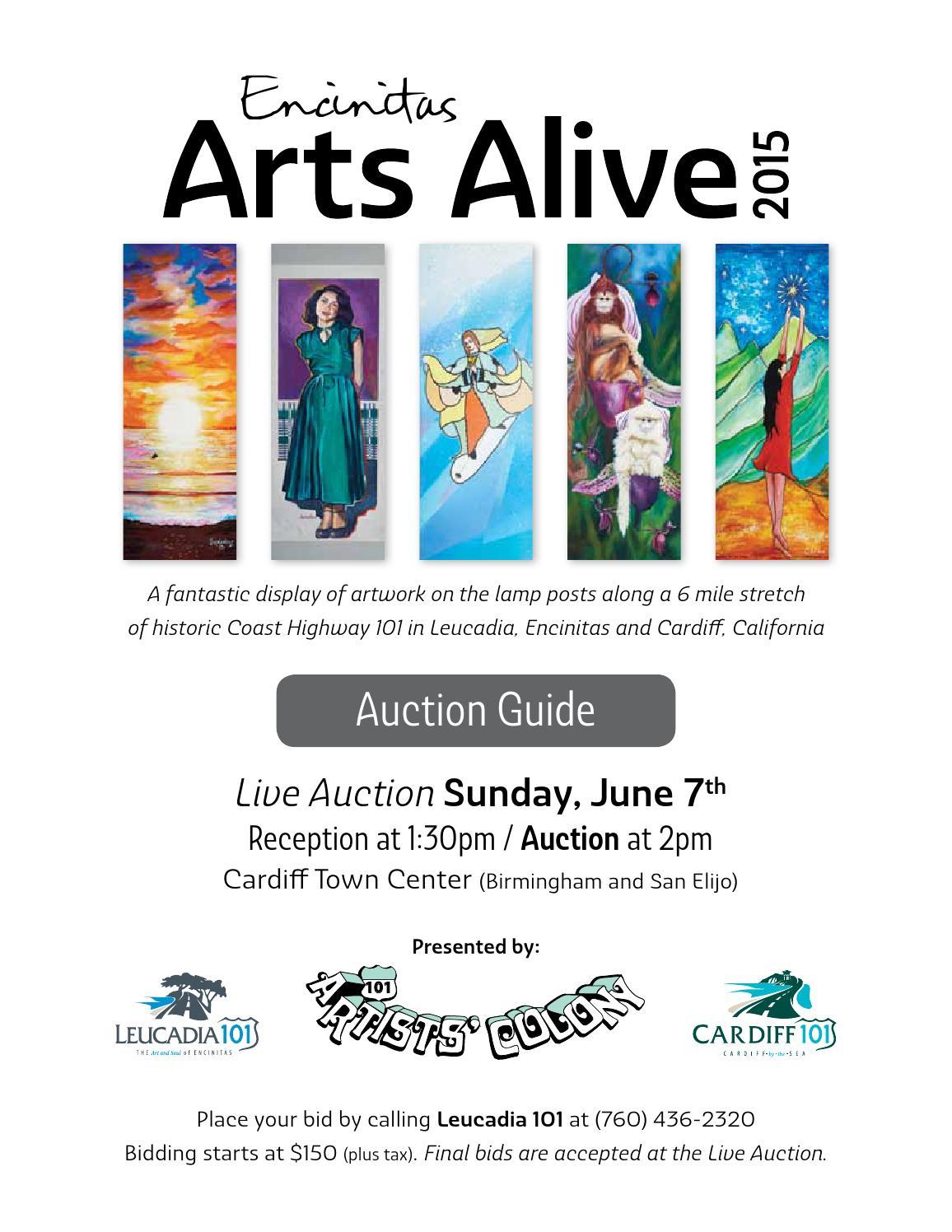 Encinitas 101 Mainstreet Association: 2015 Encinitas Arts Alive Auction Guide By Julie Ann