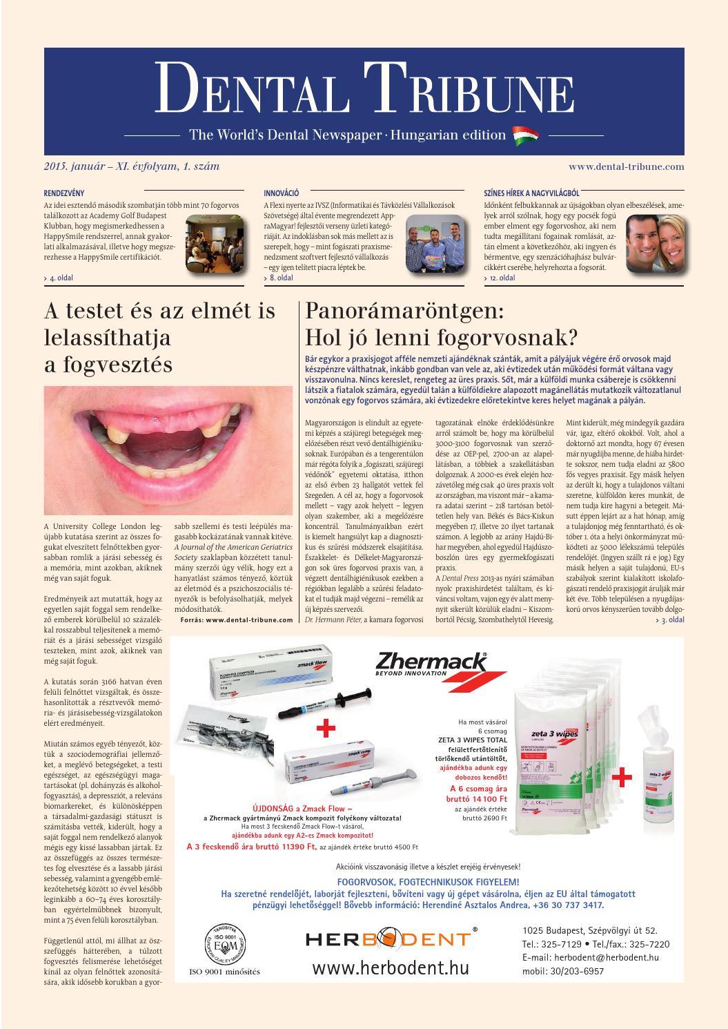 0e5a1cc8e3 Dental tribune 2015 1 by Dental Press Hungary - issuu