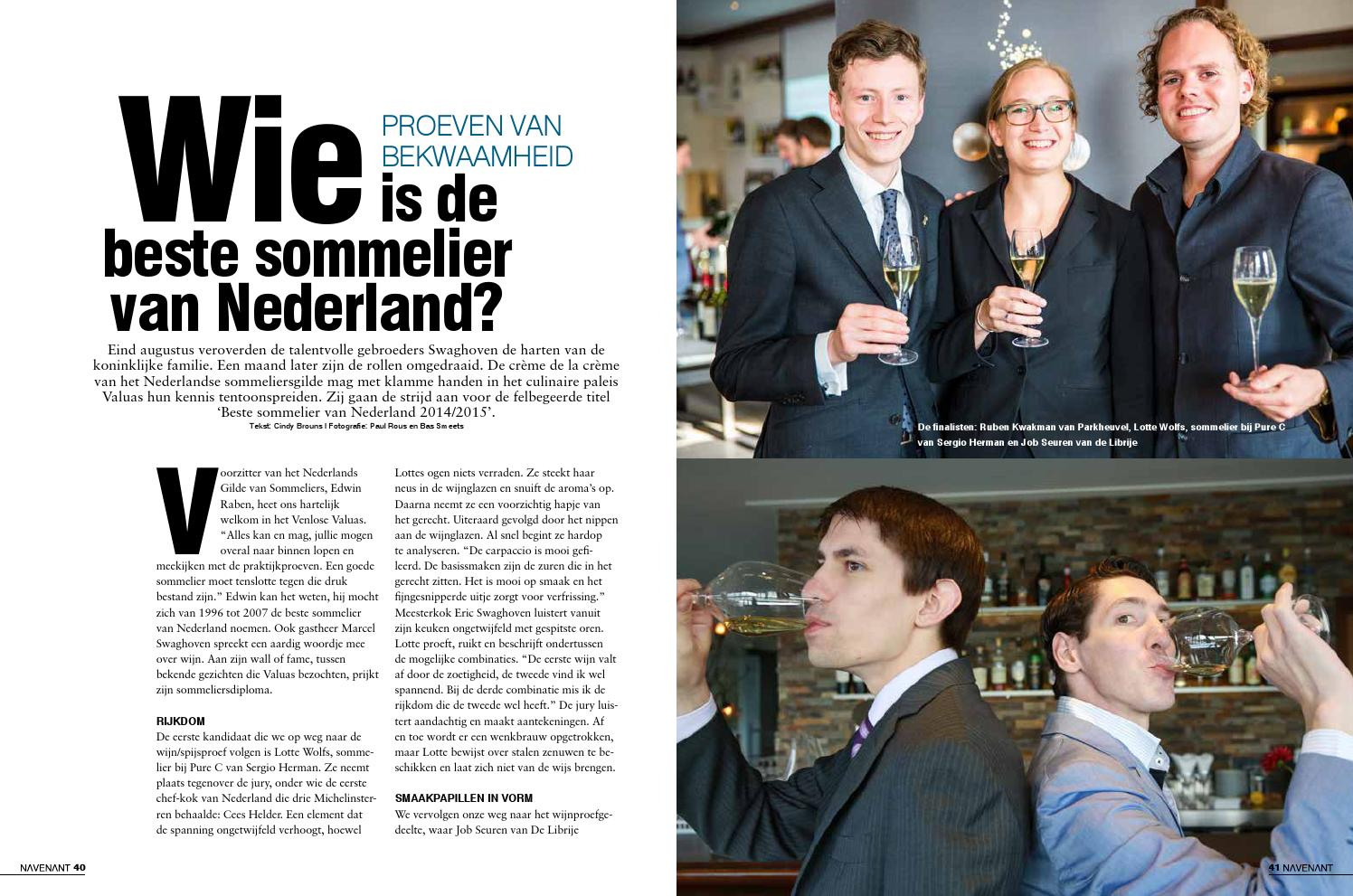 Wie Is De Beste Sommelier Van Nederland By Cindy Brouns Issuu