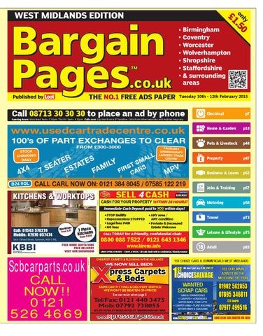 1b427a9850e150 Bargain Pages West Midlands 10th February 2015 by Loot - issuu