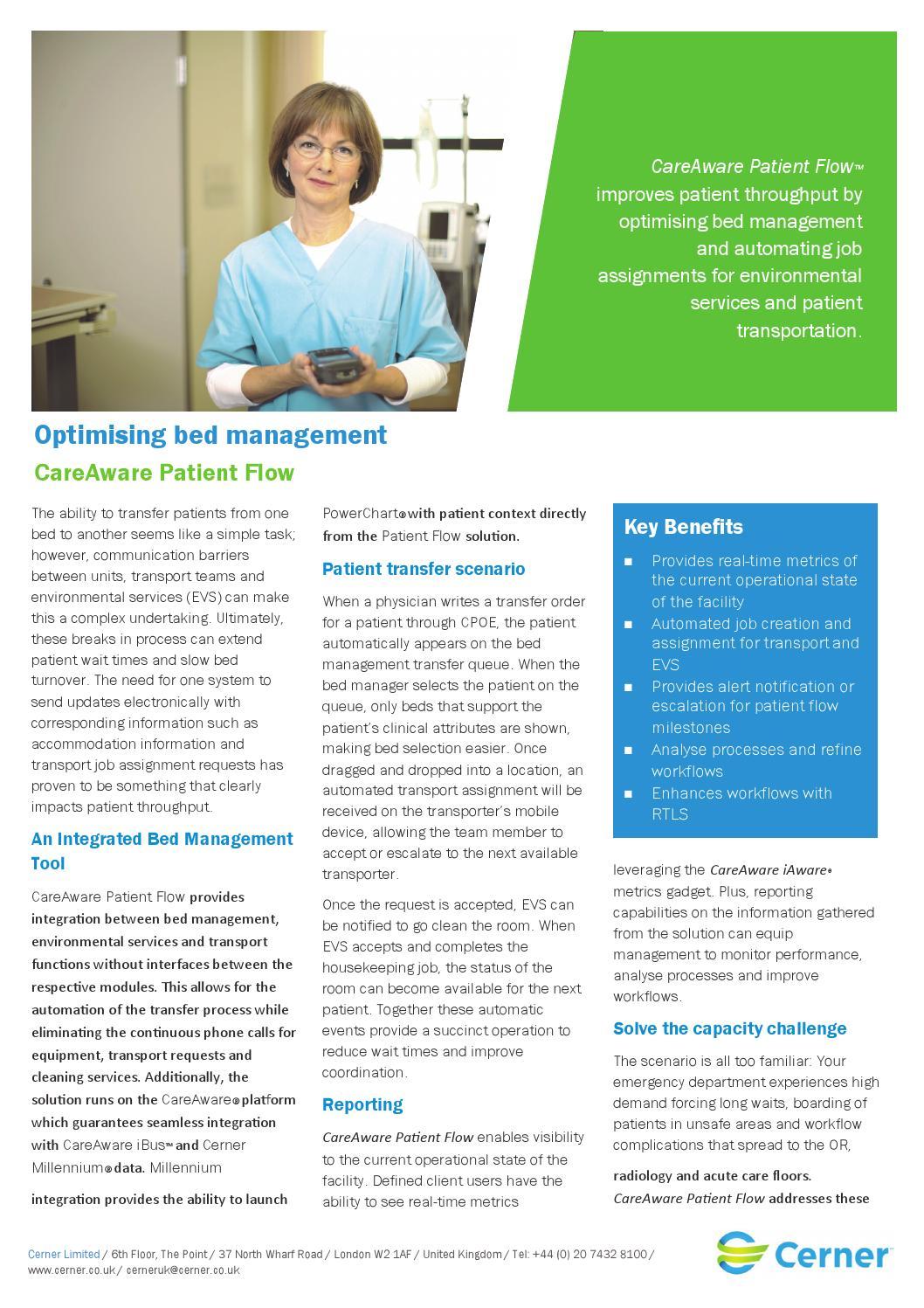 Optimising Bed Management: CareAware Patient Flow by Cerner