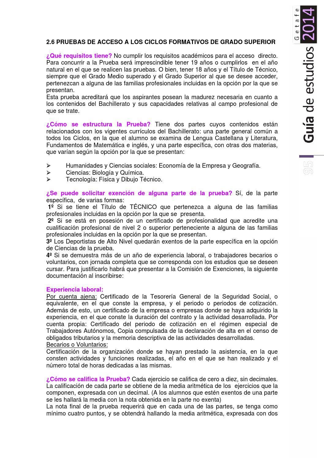 Guía Estudios De Getafe 2014 By Joven Getafe Revista