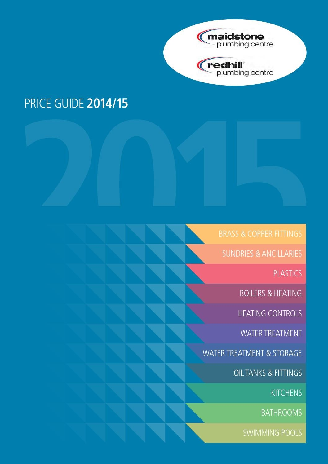Maidstone & Redhill Plumbing Price Guide 2014/15 by Redstone ...