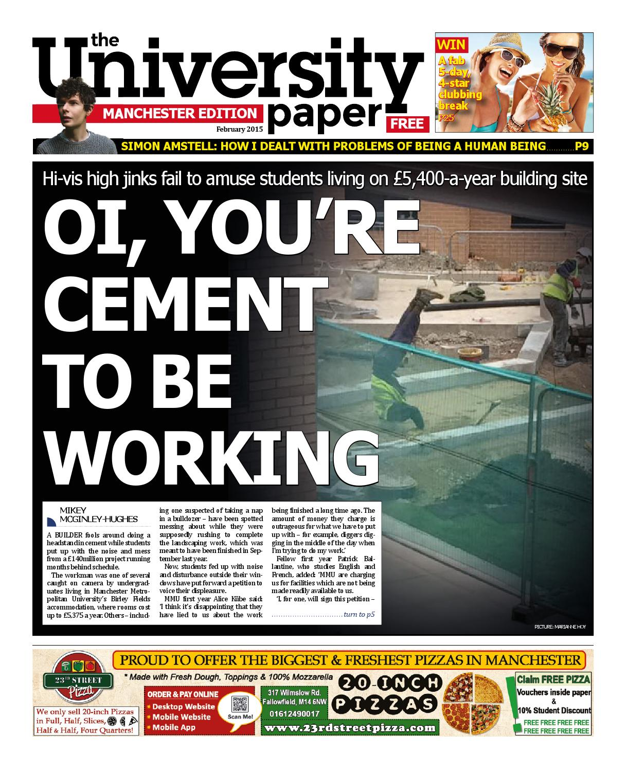The University Paper February 2015: Manchester by The