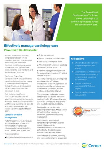 Effectively Manage Cardiology Care: Powerchart