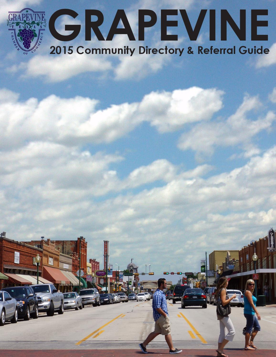 grapevine chamber of commerce 2015 community directory