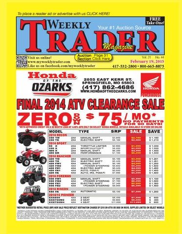Weekly Trader Feb 19, 2015 by Weekly Trader - issuu