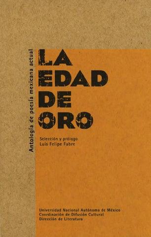 La edad de oro. Luis Felipe Fabre by Jorge Posada - issuu 14c435de729bd