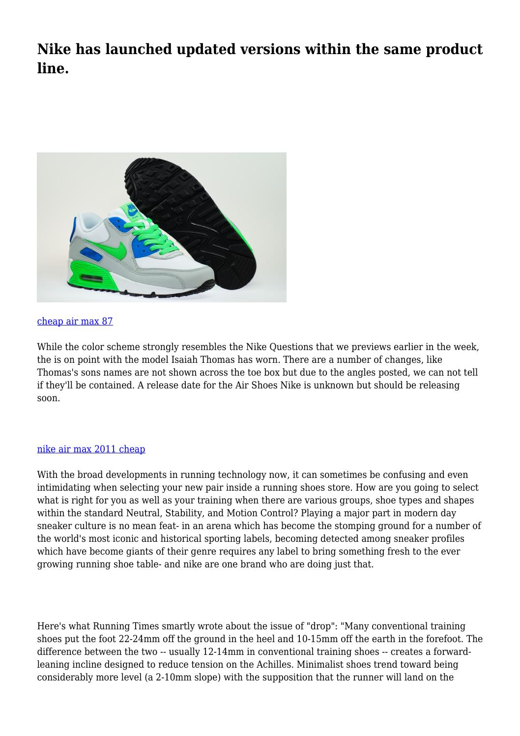arbusto Mendigar oxígeno  Nike has launched updated versions within the same product line. by  utopiantorpor2003 - issuu