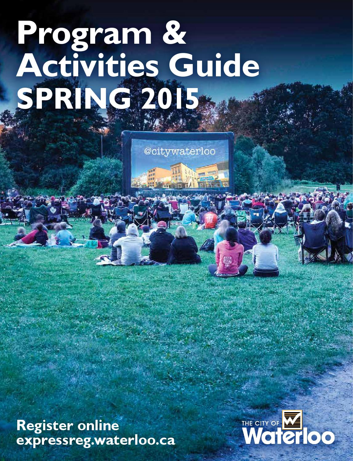 City of Waterloo Program & Activities Guide Spring 2015 by City of ...