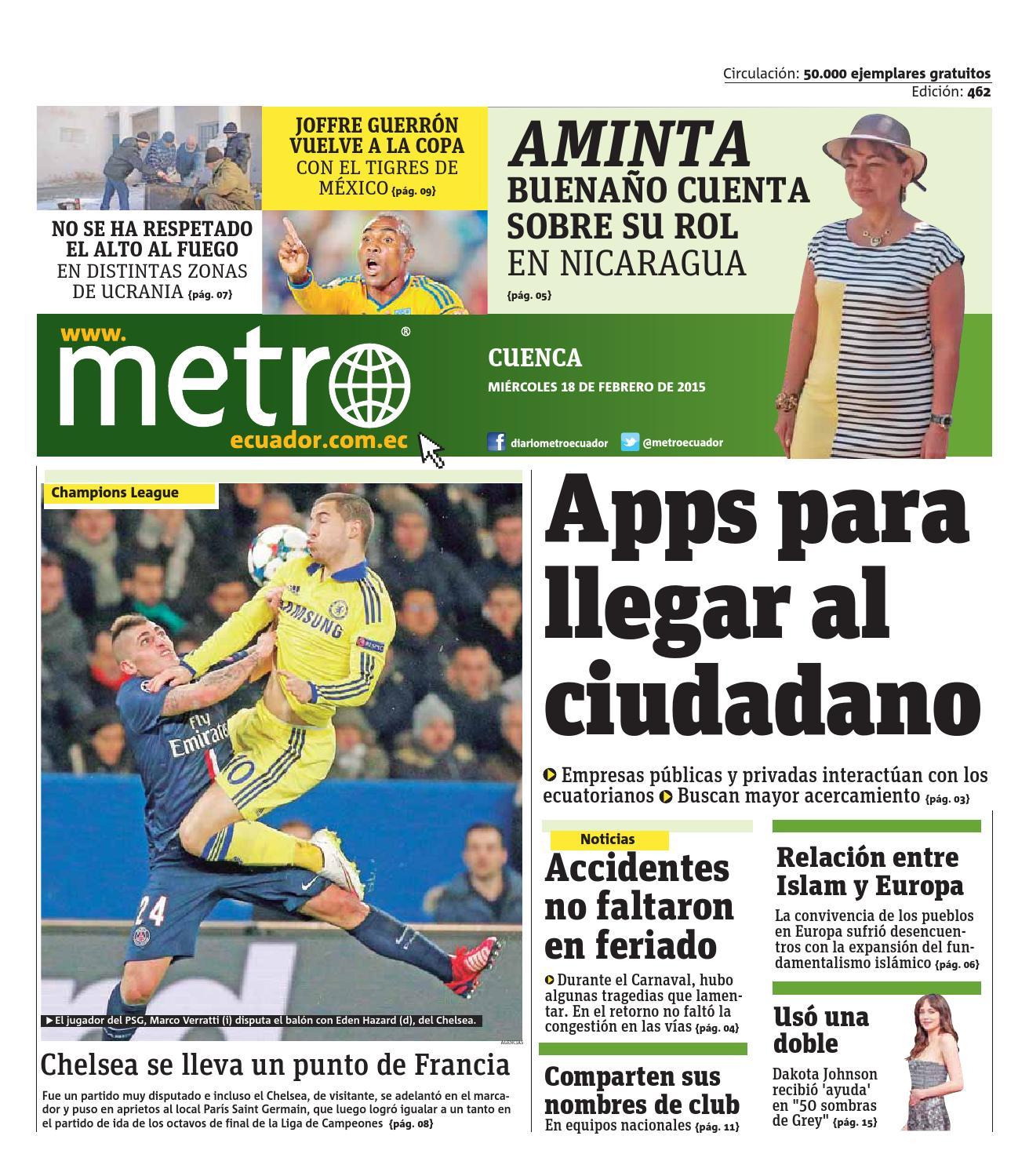 Verratti Desatasca A Un Psg Muy Directo: 20150218_ec_cuenca By Metro Ecuador