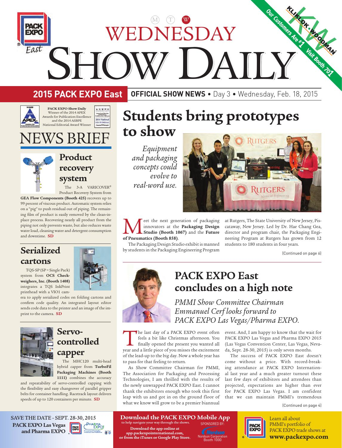 Show Daily PackEXPO East Day 3 by PMMI - issuu