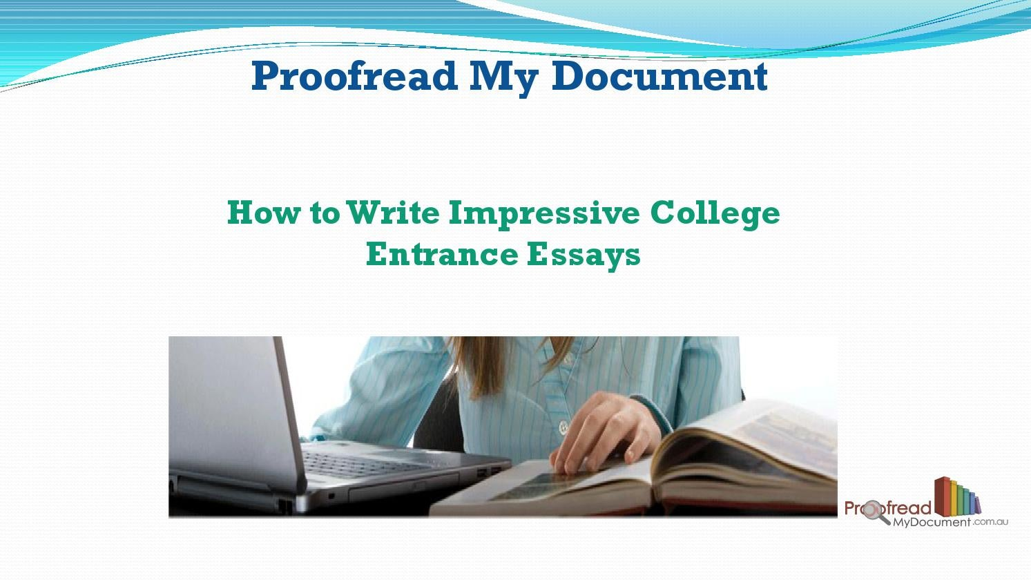 how to proofread my essay