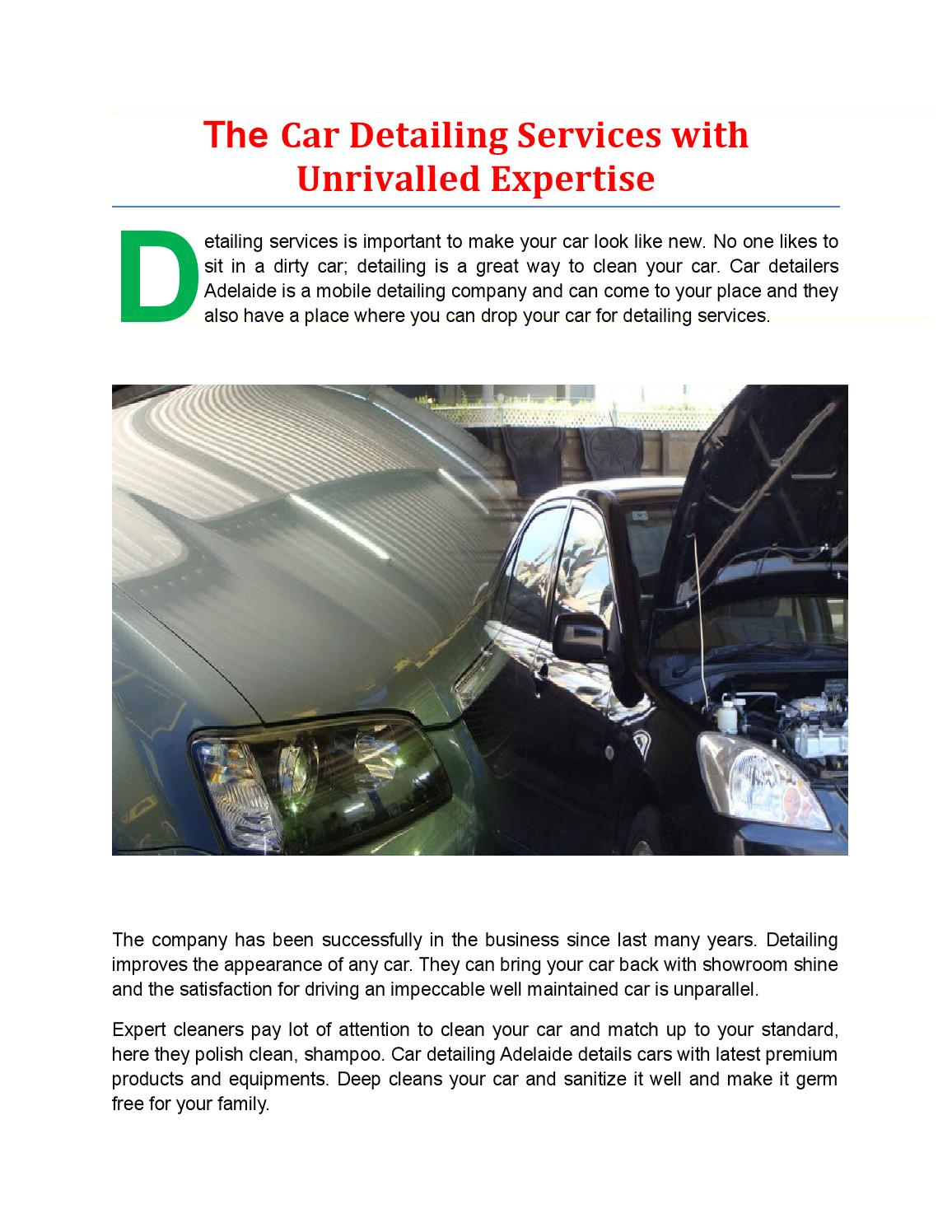 The Car Detailing Services With Unrivalled Expertise By Gleemmachine