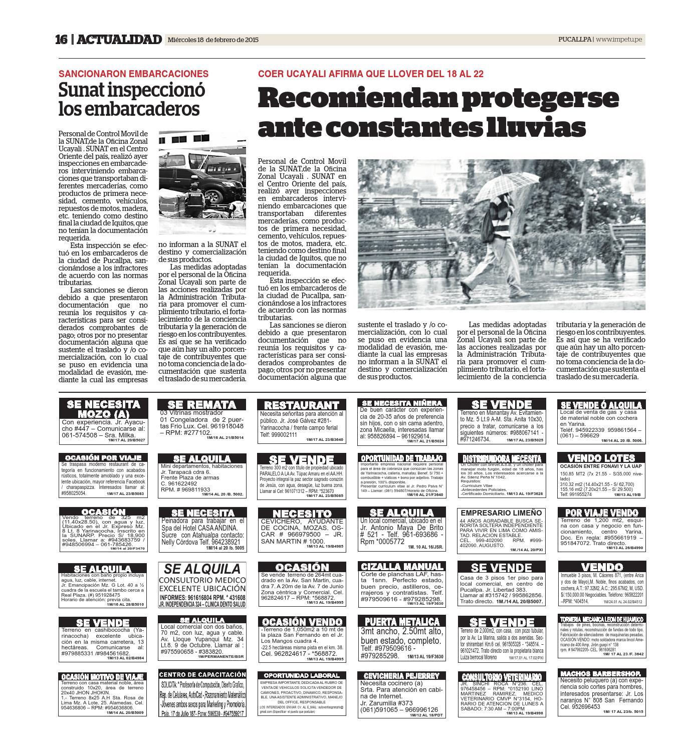 Impetu 18 de febrero de 2015 by Diario Ímpetu - issuu