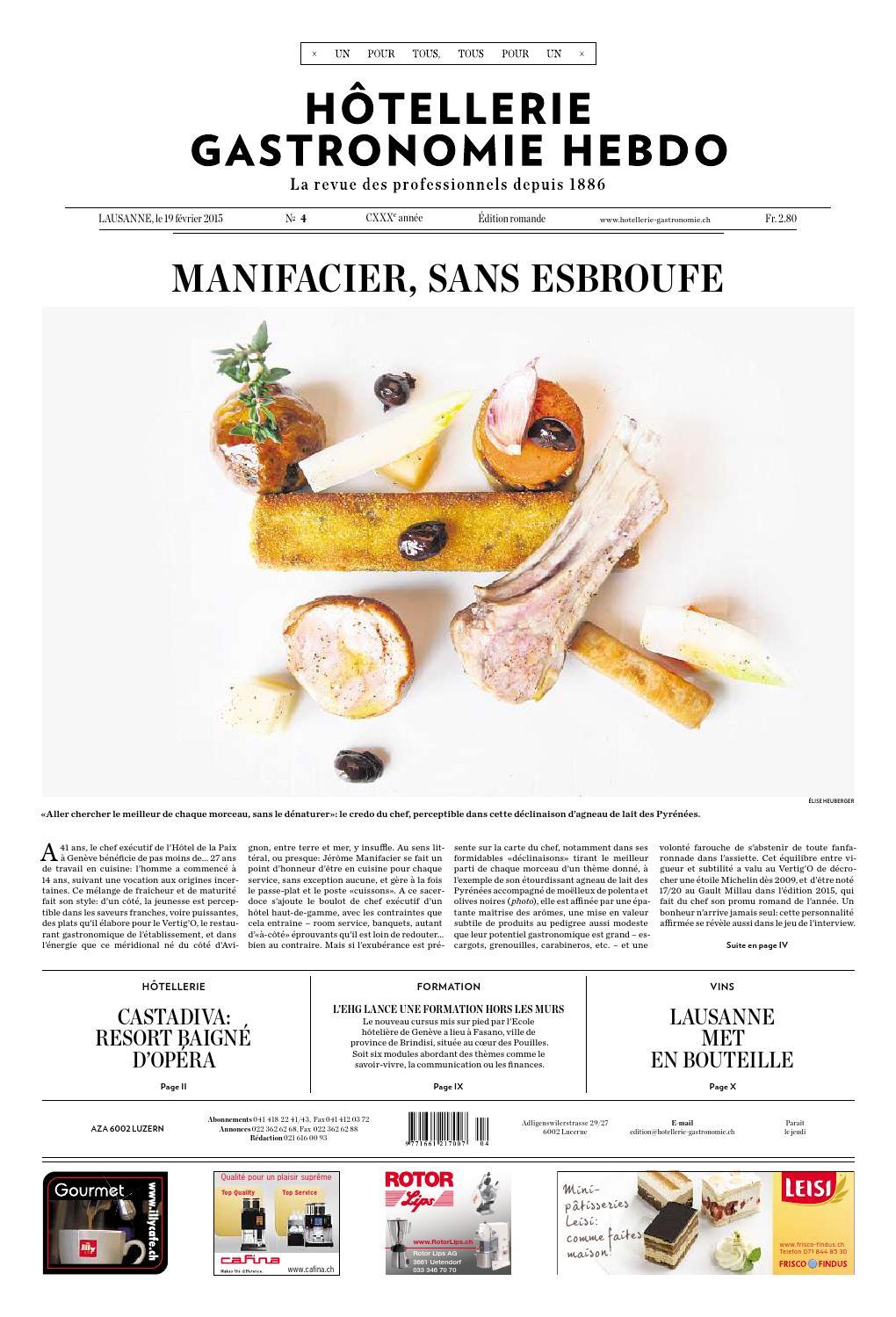 Hg Hebdo 4 2015 By Hotellerie Gastronomie Verlag Issuu