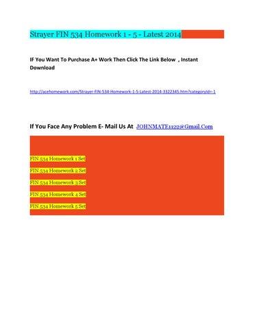 strayer fin 534 homework set 5