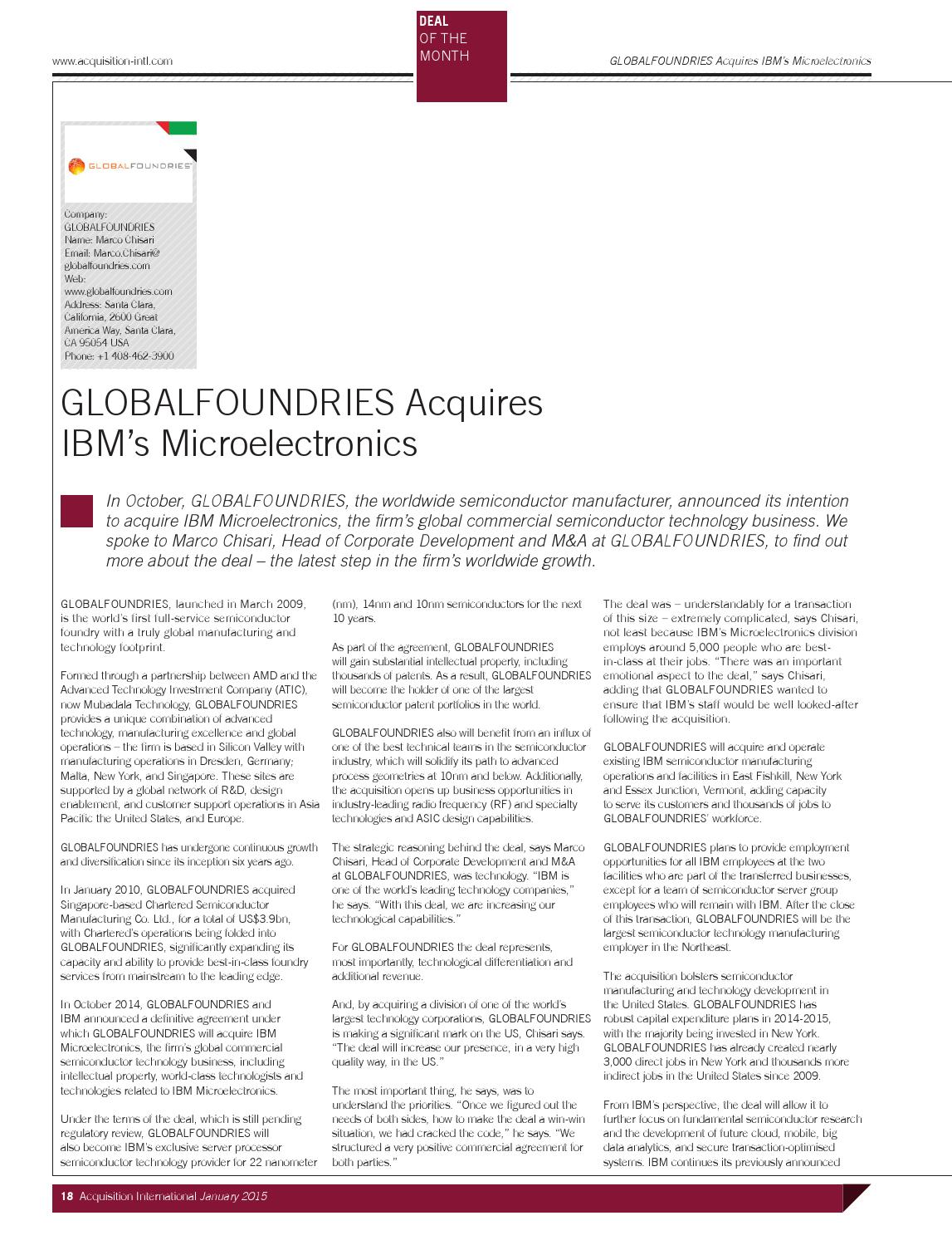 Acquisition International January 2015 by AI Global Media